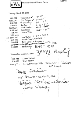Documents undisclosed podcast detectives itinerary of woodlawn teacher interviews march 23 24 1999 sciox Images